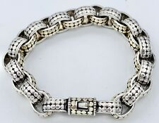 """Nice 7 3/4"""" John Hardy Sterling And 18k Yellow Gold Chain Bracelet"""