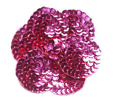 Glamorous Affair! Luxurious Hot Pink Sequin Flower & Easy Pin Brooch(B4/Zx89)