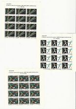 Spain: 1989; Scott B150-B152 in sheets of 12 stamps mint NH. SP091