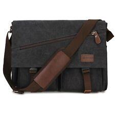 Mens Messenger Bag,15.6 Inch Water Resistant Canvas Satchel Laptop Shoulder Bag