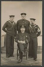 Postcard HMS Agincourt group of four Royal Navy naval shipping early RP