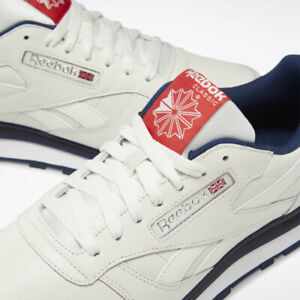 Men's Reebok Classic Leather  DV8626 Off White Chalk Navy Primal Originals 13 11