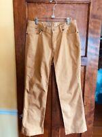 Mountain Hardwear 32 Men's Mustard Denim Jeans Pants 29.5 Inseam