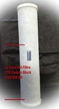 """FILTRO FILTRI CARTUCCIA CTO 20x5"""" BIG - 5 MICRON CARBON BLOCK Big BLUE"""