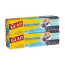 Glad Press n Seal Plastic Film Wrap - 2 rolls x 140 Sq ft = 280 Sq ft Total