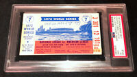 1972 WORLD SERIES GAME 7 A'S VS REDS TICKET PSA 1 OAKLAND CLINCHES THE TITLE