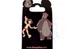 Disney * JUNGLE BOOK - MOWGLI & BALOO - 2 Pin Set  * New on Card Trading Pins