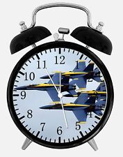 """Blue Angels F-18 Alarm Desk Clock 3.75"""" Home or Office Decor W240 Nice For Gift"""