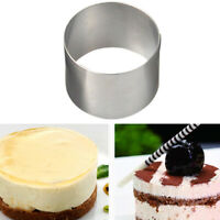 Stainless Steel Mousse Cake Ring Mold Cookie Cutter Pastry Baking Mould Tool