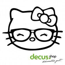 Hello Kitty - Geek Girl // Sticker JDM Aufkleber Frontscheibe