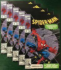 5 LOT SPIDER-MAN #27 SOMETHING ABOUT A GUN 1992 NM