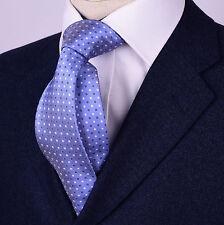 Mens Skinny Tie Light Blue Contrast Studs Studs Diamond Luxury Fashion Accessory