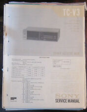 Sony TC-V3 cassette deck service repair workshop manual (original copy)