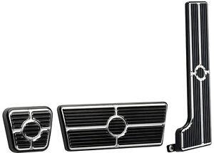 BILLET SPECIALTIES BLACK PEDAL KIT,GAS,BRAKE,& PARKING BRAKE,58-64 AUTOMATIC