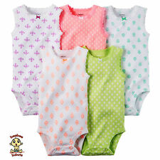 Carter's Bodysuits 5-Pack Sleeveless Set 6 months Authentic and Brand New
