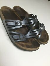 Birkenstocks Womens 10.5 Grey Leather Walking Sandals