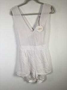 atmos here NEW WITH TAGS womens white emerson crossover playsuit romper size 14