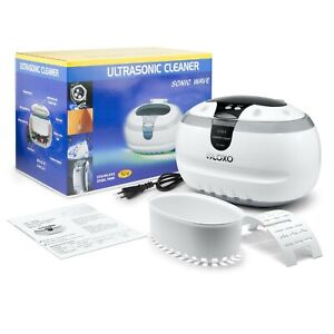 VLOXO 600ml Professional Ultrasonic Cleaner Jewellery Coins Cleaning Machine NEW