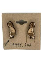 Bobs Burgers Earrings - Tina - Natural Basswood - Hypoallergenic Titanium Stud