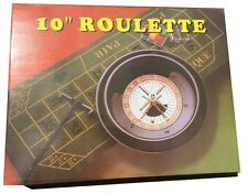 BOXED CASINO ROULETTE + BLACKJACK - BALLS RAKE LAYOUT + EXTRA PACK OF CHIPS