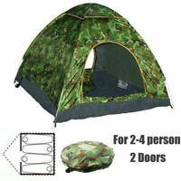3-4 Man Person Camping Pop-Up Tent Music Festival Outdoor Hiking Beach Automatic