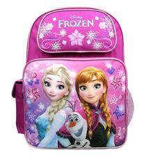 """Disney Frozen Girls 16"""" Canvas Pink School Backpack"""