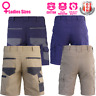 Ladies Cargo Work Shorts Cotton Drill UPF 50+ Multi pockets Modern Fit 2 styles