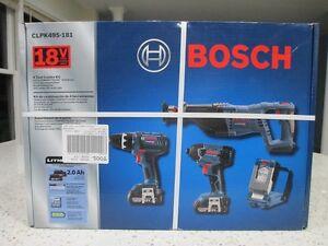 Bosch CLPK495-181 -  4-Tool 18-Volt Lithium Ion Cordless Combo Kit