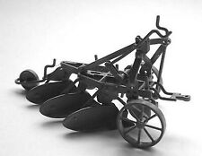 More details for 3 furrow plough hydraulic linkage m13 unpainted o scale langley model kit metal