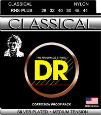 DR RNS-Plus Nylon Classcial Guitar Strings 28-44 Silver Plated medium tension
