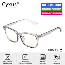 Cyxus Blue Light Blocking Computer Glasses for Anti Eyestrain UV420 Gray Unisex