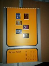 Raab-Verlag; Briefmarkenkalender 1982; zertifiziert; limitierte Auflage