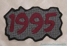 Embroidered Retro Vintage 90s Burgundy & Gray Grunge 1995 Year Patch Iron On USA