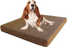 41X27X4 Brown Orthopedic Memory Foam Waterproof Pet Bed For Medium to Large Dog