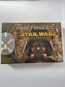 STAR WARS Saga Edition Trivial Pursuit DVD 2005 Board Game Trivia Sealed NIB