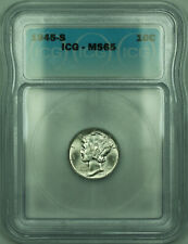 1945-S Mercury Silver Dime 10c Coin ICG MS-65 (PAA)
