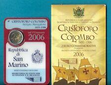 COFFRET BU SAN MARIN 2006  2 EURO     CHRISTOFORO   COLOMBO