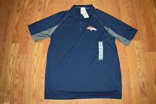 NWT Mens NFL Team Apparel Navy DENVER BRONCOS Polo Shirt Size M Medium