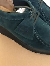 Clarks Originals Peggy Bee Blue Teal Suede shoes, women's size 9 New In Box