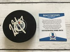 Milan Lucic Signed Autographed Edmonton Oilers Hockey Puck Beckett BAS COA c