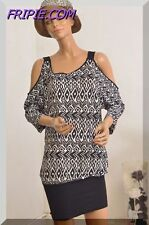 Robe Tunique noire  et blanche CACHE CACHE  taille 40  021718
