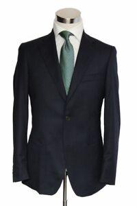 Benjamin Sport Coat: 40S Dark navy, 2-button, pure wool flannel