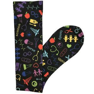 Nurse Medical Symbols 15-20mmHG Soft Comfort Compression Socks - 2 Colors!