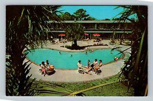 Hilton Head Island SC, Hilton Head Inn, Pool, Chrome South Carolina Postcard