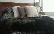 Real Fox Fur Blanket XXL Beautiful Canadian Made