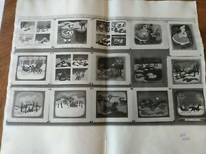 Vintage Disney animation art production used Storyboards MARY BLAIR 1940's