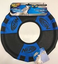 11 inch Nerf Dog Trackshot Flyer Ring Disc Blue and Black Dog Toy