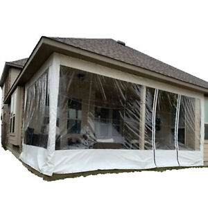 Commercial Durable Clear Awning Canopy Patio Enclosure PVC Curtain Waterproof