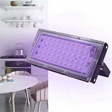 110/220V 50W UV LED Germicidal Flood Light Ozone Sterilizer IP65 Waterproof Home