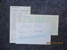 Strat-O-Matic Baseball 1961 Washington Senators Team Set:24 cards